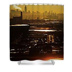 An Imposing Skyline Shower Curtain by James Aiken