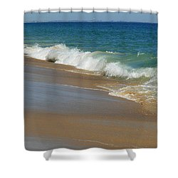 An Ocean View  Shower Curtain by Neal  Eslinger