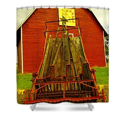 An Old Barn In Kittitas Shower Curtain by Jeff Swan