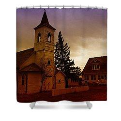 An Old Church In Williston North Dakota  Shower Curtain by Jeff Swan