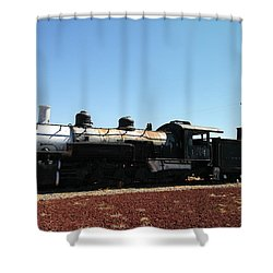 An Old Engine Shower Curtain by Jeff Swan