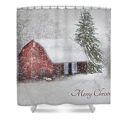 An Old Fashioned Merry Christmas Shower Curtain by Lori Deiter