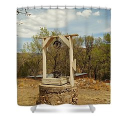 An Old Well In Lincoln City New Mexico Shower Curtain by Jeff Swan