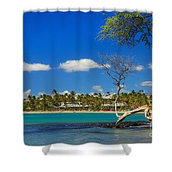 Anaehoomalu Bay Shower Curtain by James Eddy