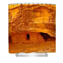 Anasazi Ruins  Shower Curtain by Jeff Swan
