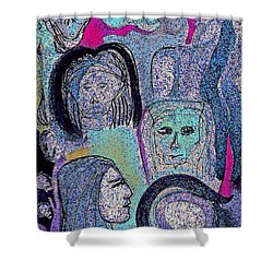 Ancestral Cave Shower Curtain by First Star Art