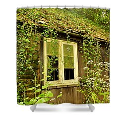Ancient Cottage Shower Curtain by Rene Triay Photography
