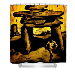 Ancient Grunge Shower Curtain by John Malone