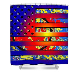 And The Flag Still Stands Shower Curtain by Robert Margetts