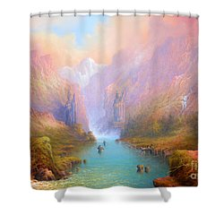 Anduin The Great River Shower Curtain by Joe  Gilronan