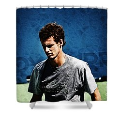 Andy Murray Shower Curtain by Nishanth Gopinathan