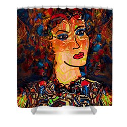 Angel Of Hope Shower Curtain by Natalie Holland