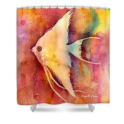 Angelfish II Shower Curtain by Hailey E Herrera