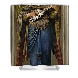 Angels Shower Curtain by John Melhuish Strudwick