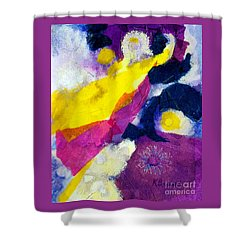 Angels Surround Me Shower Curtain by Kathy Braud