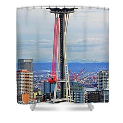 Angry Birds Needle Shower Curtain by Benjamin Yeager