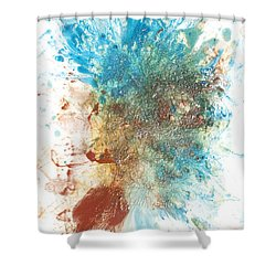 Yang's Walkabout Shower Curtain by Sora Neva