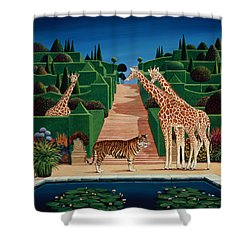 Animal Garden Shower Curtain by Anthony Southcombe