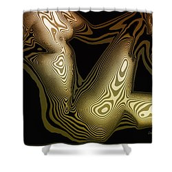 Animal Magnetism Shower Curtain by Donna Blackhall