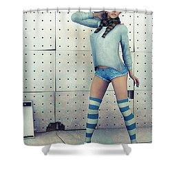 Anna Shower Curtain by Jutta Maria Pusl