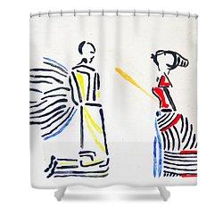 Annunciation Shower Curtain by Gloria Ssali