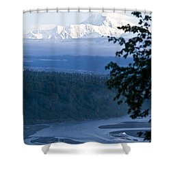 Another Denali View  Shower Curtain by Tara Lynn