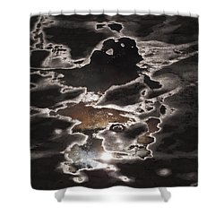 Another Sky Shower Curtain by Rona Black