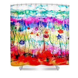 Another World Shower Curtain by Hazel Holland