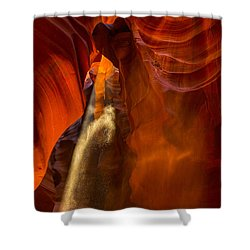 Antelope Canyon - Sand In The Light Shower Curtain by Angela A Stanton