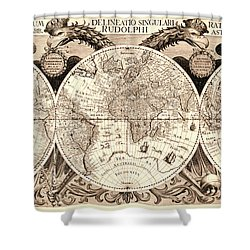 Antique Astronomical Map Shower Curtain by Gary Grayson