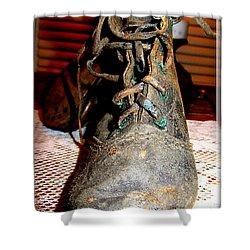 Antique Boots Shower Curtain by Danielle  Parent