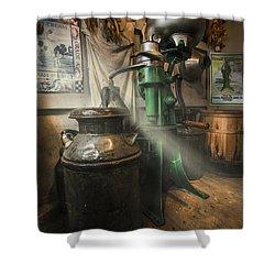 Antique Cream Separator Shower Curtain by Debra and Dave Vanderlaan