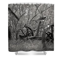 Antique Field Mower Shower Curtain by Mary Lee Dereske
