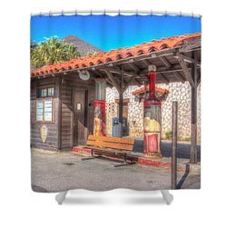 Antique Gas Station Shower Curtain by Heidi Smith