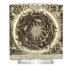 Antique Mystical Map Shower Curtain by Gary Grayson