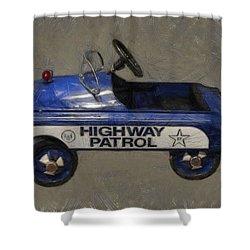 Antique Pedal Car V Shower Curtain by Michelle Calkins