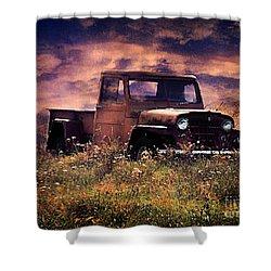Antique Truck Shower Curtain by Darren Fisher