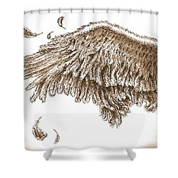 Antiqued Wing Shower Curtain by Adam Zebediah Joseph
