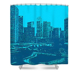 Anywhere Usa In Relief Shower Curtain by Bob and Nadine Johnston