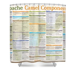 Apache Camel Components Poster Shower Curtain by Gliesian LLC