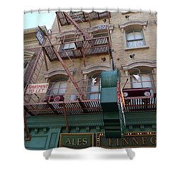 Apartment To Let At Finnegans Shower Curtain by Richard Reeve