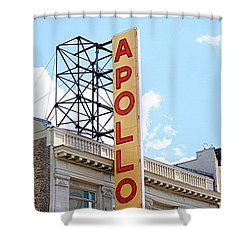Apollo Theater Sign Shower Curtain by Valentino Visentini