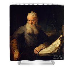 Apostle Paul Shower Curtain by Rembrandt