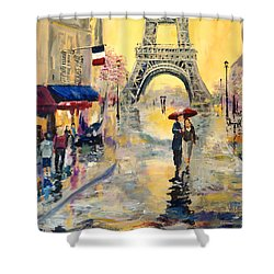 April In Paris Shower Curtain by Alan Lakin