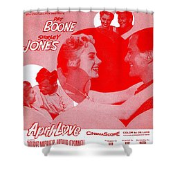 April Love Shower Curtain by Mel Thompson