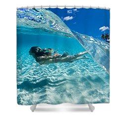 Aqua Dive Shower Curtain by Sean Davey