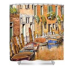 Arancio Sul Canale Shower Curtain by Guido Borelli