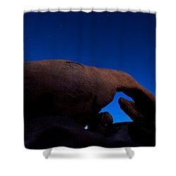 Arch Rock Starry Night Shower Curtain by Stephen Stookey
