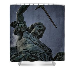 Archangel Michael Shower Curtain by Erik Brede