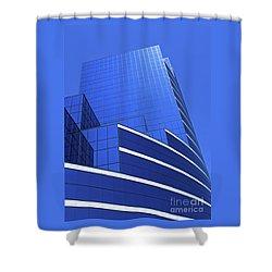 Architectural Blues Shower Curtain by Ann Horn